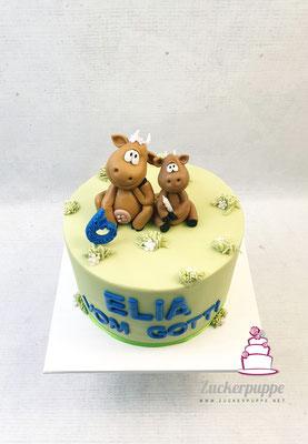 Gotti und Elia als Kühe (seine Lieblingstiere) zum 6. Geburstag von Elia