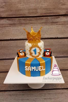 Eine Goldene Krone für den kleinen König Samuel zum 1. Geburtstag