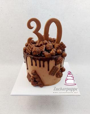 Dripcake zum 30. Geburtstag von Schokoladenliebhaber Adrian
