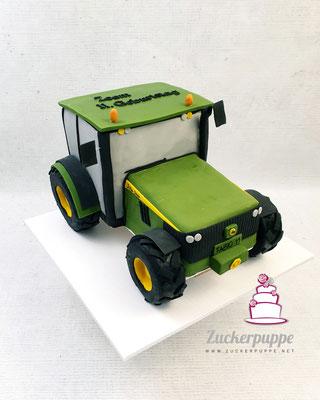 John Deere Traktor zum 11. Geburtstag von Fabio