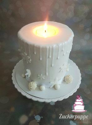 Kerzen - Torte zu Weihnachten für meine Familie 2016