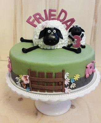 Shawn das Schaf zum 3. Geburtstag von Frieda