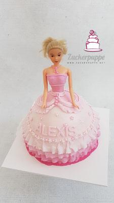 Barbietorte zum 4. Geburtstag von Alexis