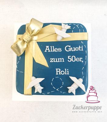 Geschenk - Torte mit Flugzeugen zum 50. Geburtstag von Roli