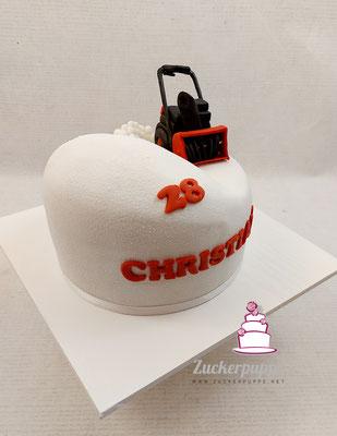 modellierte Schneefräse zum 28. Geburtstag von Christian