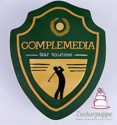 Logotorte für Complemedia als Dankeschön für die Kundentreue von DeVita Design
