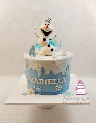 Olaf von der Eiskönigin zum 4. Geburtstag von Mariella