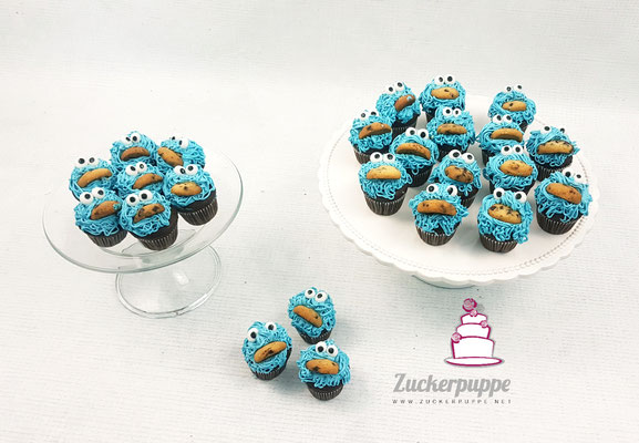 Krümelmonstercupcakes für den Kindergarten zum 5. Geburtstag von Frieda