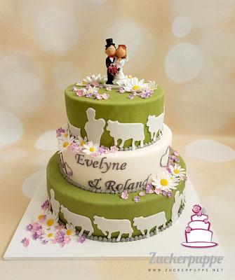 Alpaufzug - Torte zur Hochzeit von Evelyne und Roland
