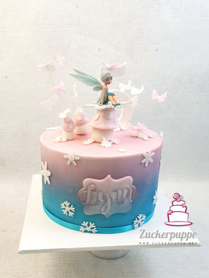 Feen - Torte zum 5. Geburtstag von Lynn