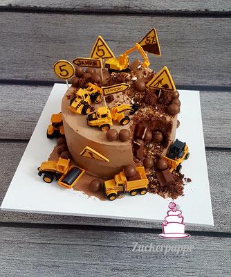 Baustellentorte für mein Göttibub Leandro zum 5. Geburtstag