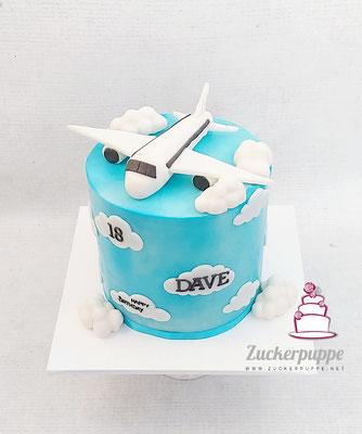 Flugzeugtorte zum 18. Geburtstag von Dave