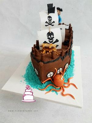 Piratenschiff zum 5. Geburtstag von Alessio