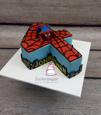 Spidermantorte zum 4. Geburtstag von Johnathan
