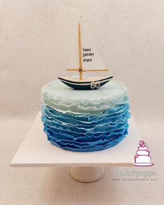 Segelboottorte zum 60. Geburtstag von Gabriela