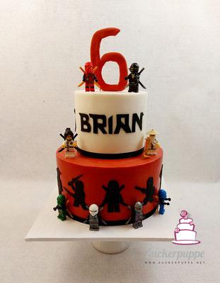Ninjagotorte zum 6. Geburtstag von Brian
