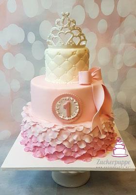 Prinzessinnentörtchen zum ersten Geburtstag von Sofia