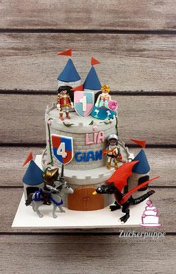RitterburgTorte zum 4. Geburtstag von Gian und zum 1. Geburtstag von Lia