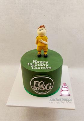 FCSG- Torte zum 36. Geburtstag von Schiedsrichter Thomas