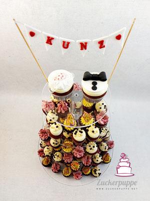 Cupcake Torte zur Hochzeit von Natascha und Matthias