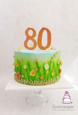 Frühlingsblumenwiese zum 80. Geburtstag von Gerlinde