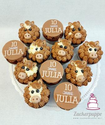 Pferde Cupcakes zum 10. Geburtstag von Julia
