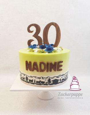 Heimatgefühl Torte zum 30. Geburtstag von Nadine