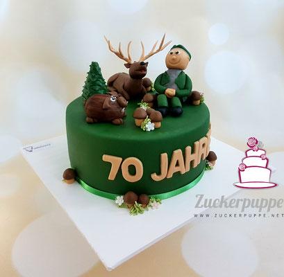 Jäger - Torte zum 70. Geburtstag von Paul