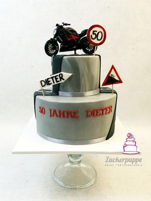 Motorrad - Torte zum 50. Geburtstag von Dieter