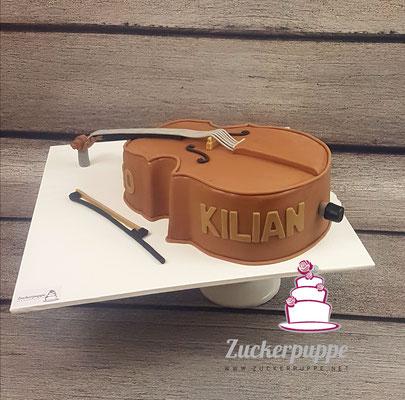 Kontrabasstorte zum 10. Geburtstag von Kilian