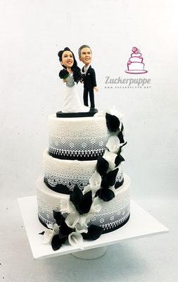 Schwarz-Weisse Romantik mit Zuckerspitze und Callas zur Hochzeit von Manuela und Kai