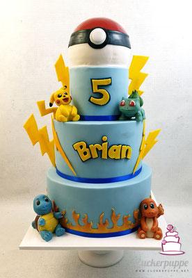 Pokemon - Torte zum 5. Geburtstag von Brian