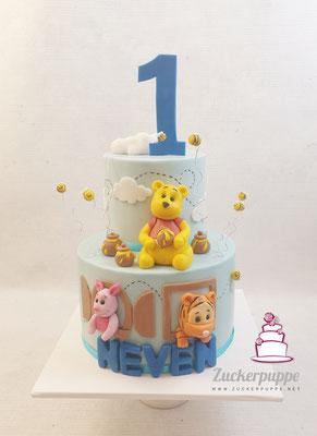 Winnie Pooh und seine Freunde zum ersten Geburtstag von Neven