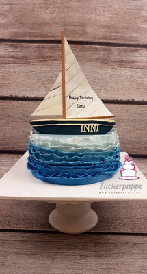 Seegelboottorte zum 41. Geburtstag von Denis