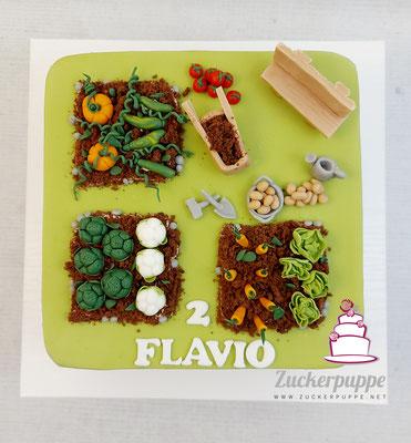 Gartentorte zum 2. Geburtstag von Flavio