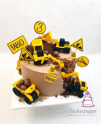 Baustellentorte zum 3. Geburtstag von Fabio