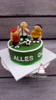 Mainzelmännchen (Bayer Leverkusern gewinnt gegen Dortmund) zum 76. Geburtstag von Miko