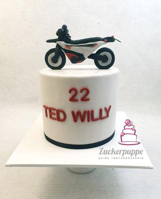 Motorradtorte zum 22. Geburstag von Ted Willy
