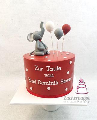Elefäntchen mit Ballons zur Taufe von Emil Dominik