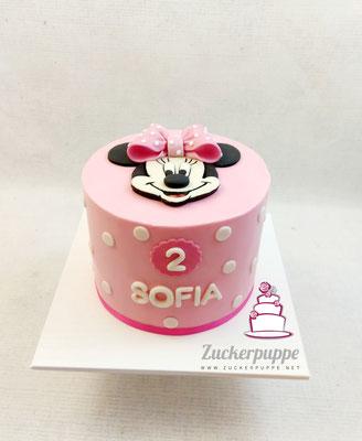 MinnieMouseTorte zum zweiten Geburtstag von Sofia