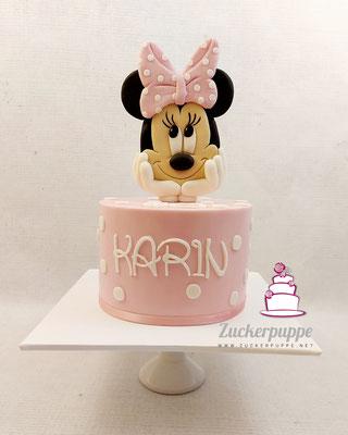 Minniemouse Torte zum 60. Geburtstag von Karin