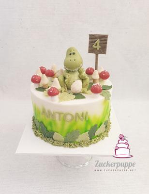 Dino-Torte zum 4. Geburtstag von Antoni