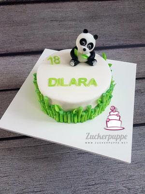 Panda - Torte zum 18. Geburtstag von Dilara