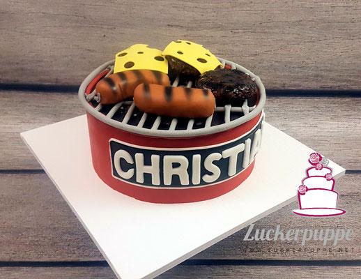 Grilltorte zum 25. Geburtstag von Christian
