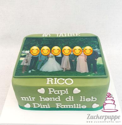 Familienbild und Grüsse zum 60. Geburtstag von Rico