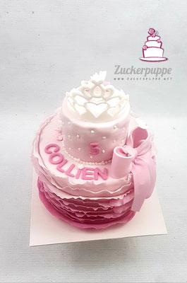 PrinzessinnenTorte und Cupcakes zum 5. Geburtstag von Collien