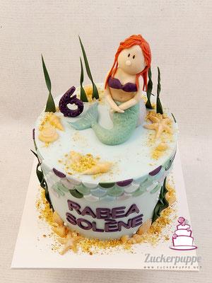 Meerjungfrau - Torte zum 6. Geburtstag von Rabea Solène