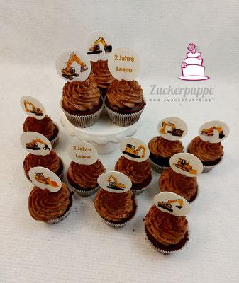 Bagger Cupcakes zum 2. Geburtstag von Leano