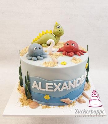 Meerestier - Torte zum 2. Geburtstag von Alexander