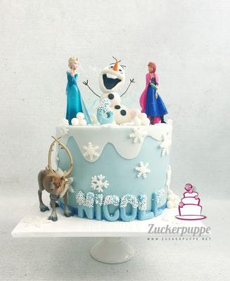 Frozen-Torte zum 6. Geburtstag von Nicole